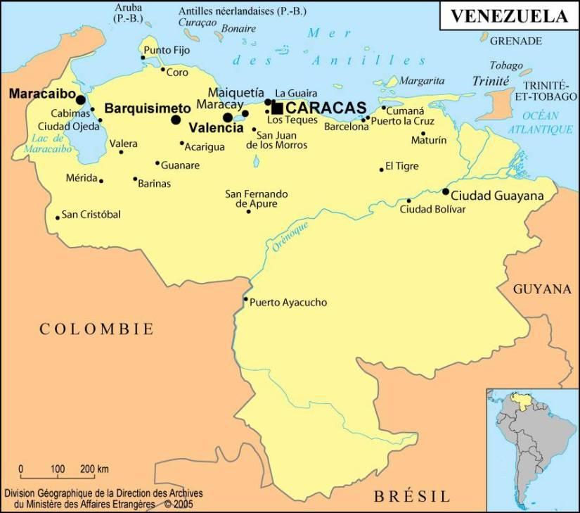 carte-villes-venezuela